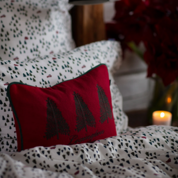 Holiday Trees Small Cotton Velvet Pillow Cover